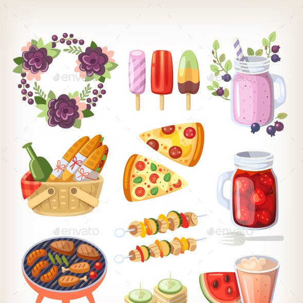 Summer Food and Recreation Elements