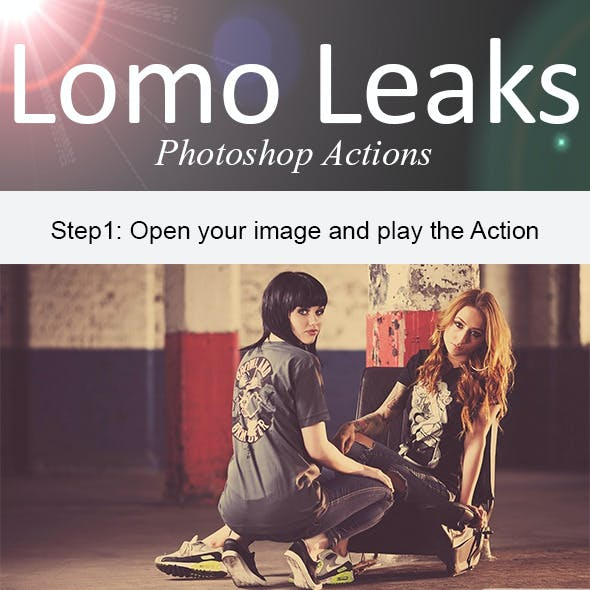 Lomo Leaks Photoshop Action
