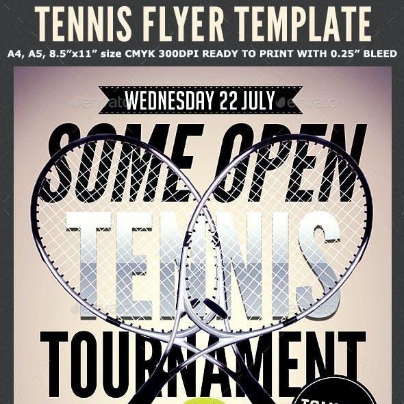 Tennis Flyer Template 2