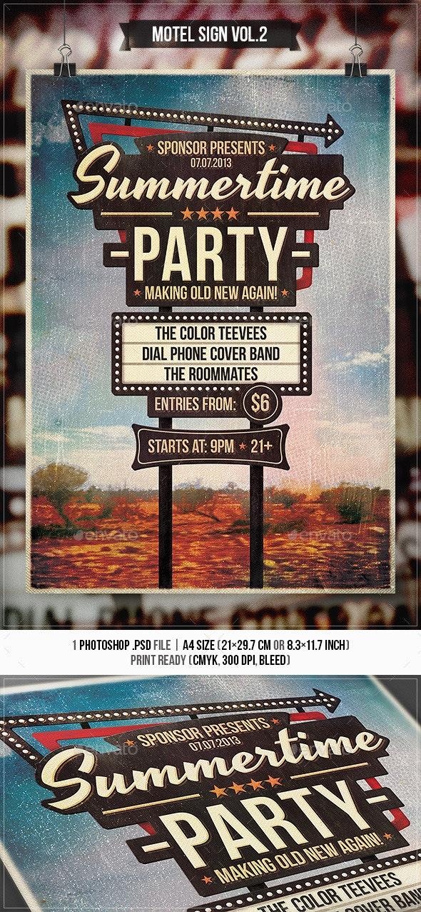 Motel Sign Vol.2 - Flyer & Poster - Concerts Events