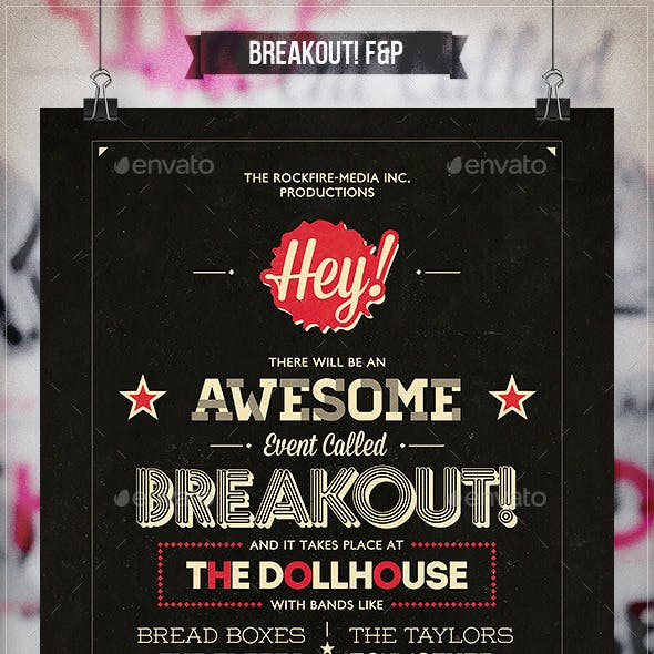 Breakout - Typography Flyer & Poster