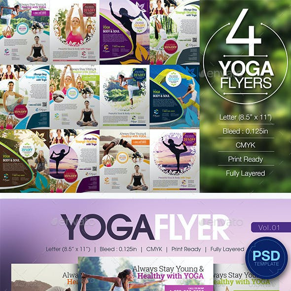 Yoga Flyer Bundle