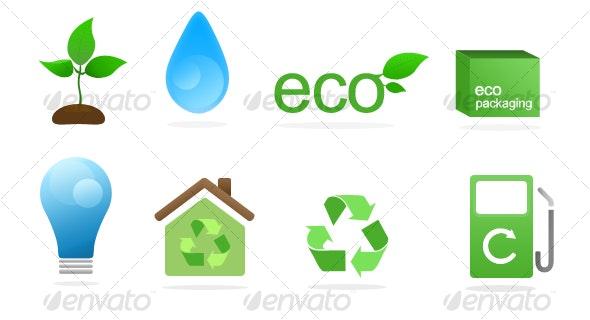 Green Icon Set - Miscellaneous Icons