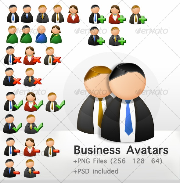 Business Avatars - Business Icons