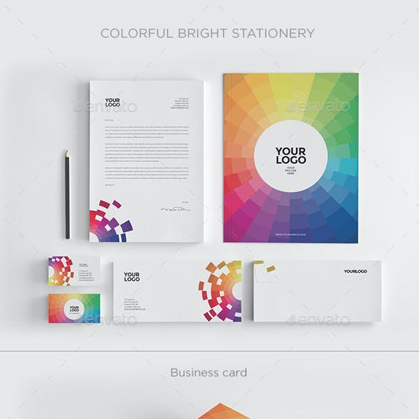 Colorful Bright Stationery