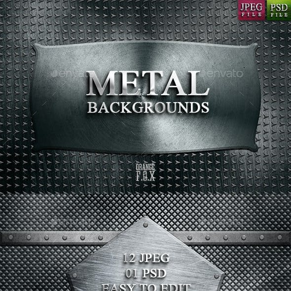 12 Metal Backgrounds