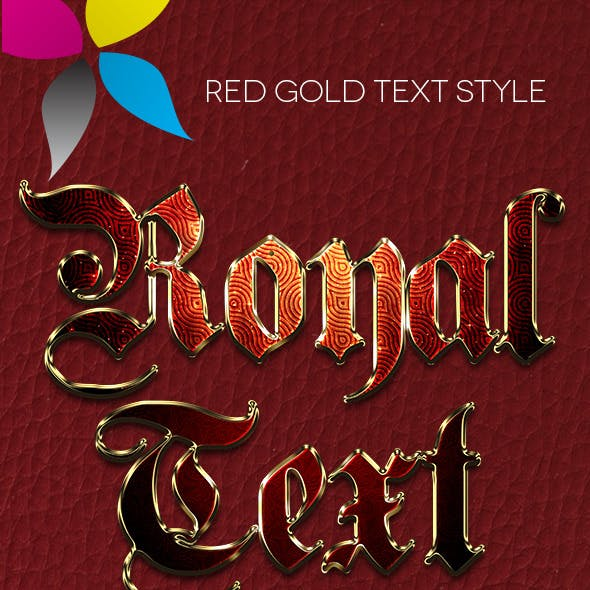 Red Gold Text Style