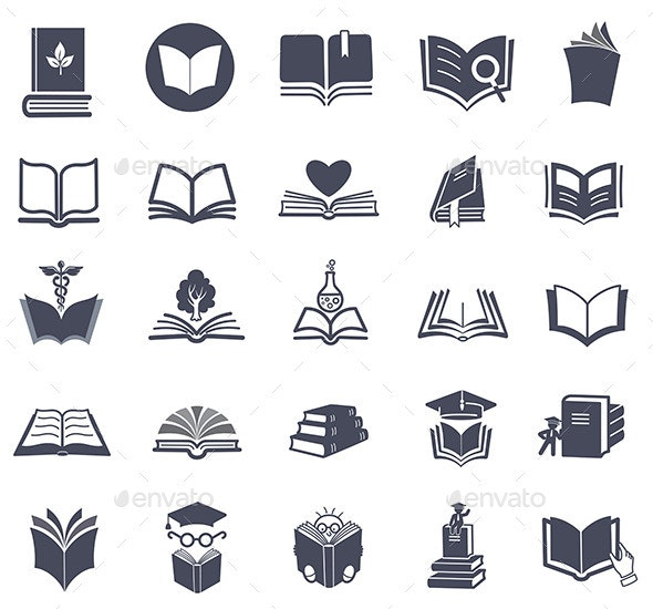 Set of Vector Book Icons.  - Icons