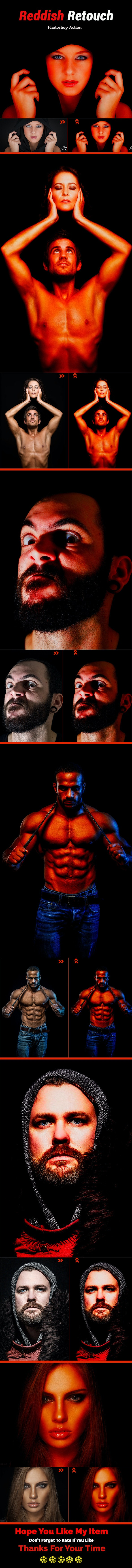 Reddish Retouch - Actions Photoshop