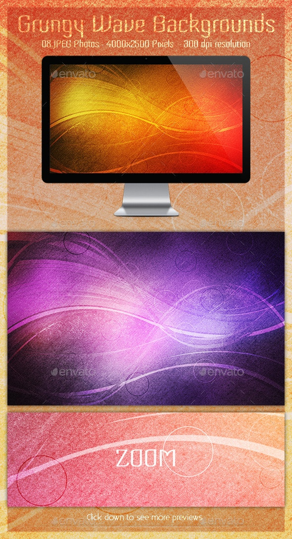Grungy Wave Backgrounds - Backgrounds Graphics
