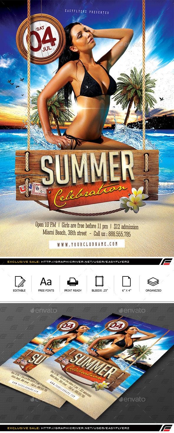 Summer Celebration Flyer Template - Events Flyers