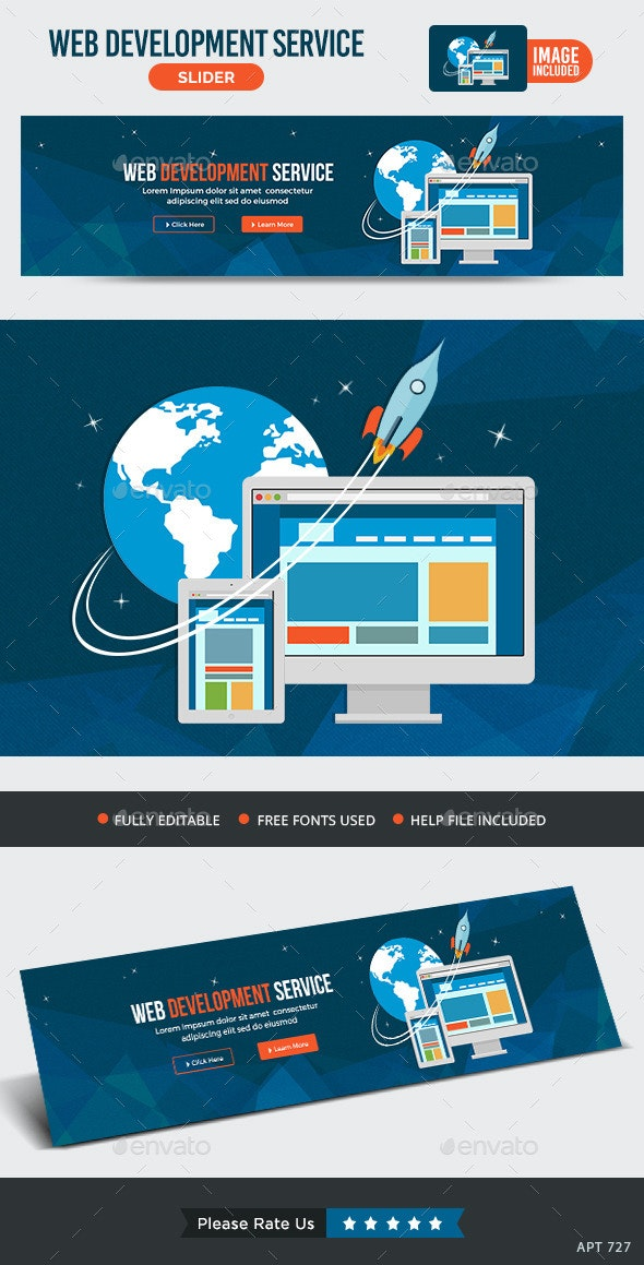 Web Development Slider - Sliders & Features Web Elements