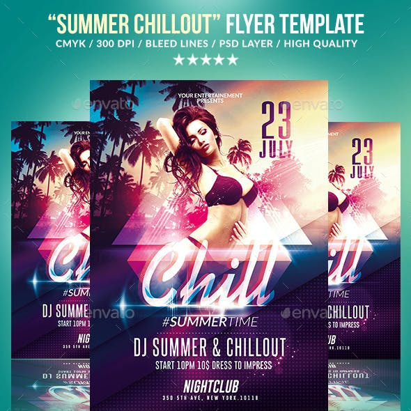 Summer Chillout Party | Psd Flyer Template