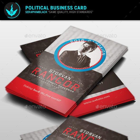 Political Business Card Template