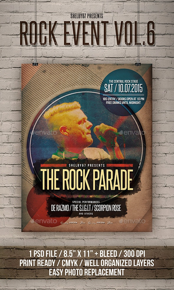 Rock Event Flyer / Poster Vol 6 - Events Flyers