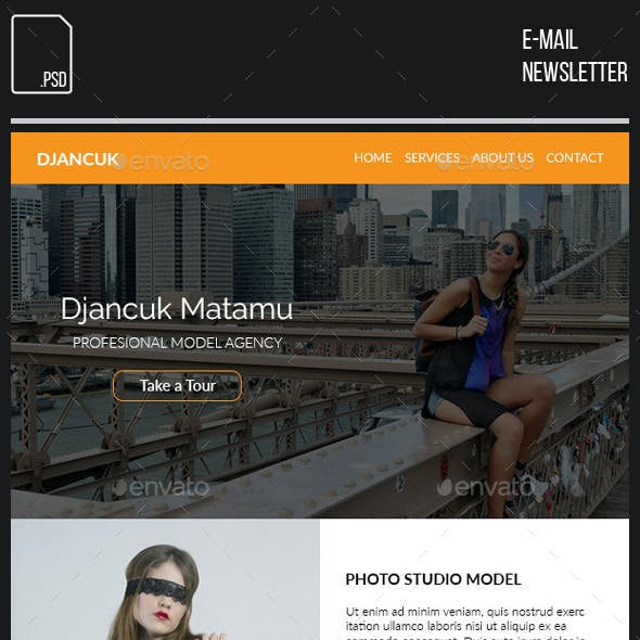 Marketing and Studio E-newsletter Template from GraphicRiver