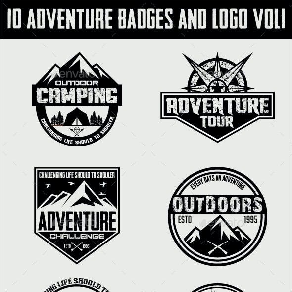 10 Adventure Badges and Logo Vol1