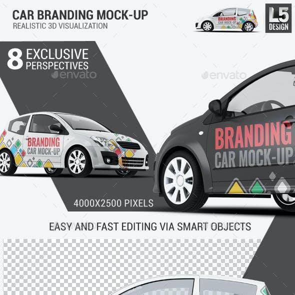 City Car Branding Mock-up