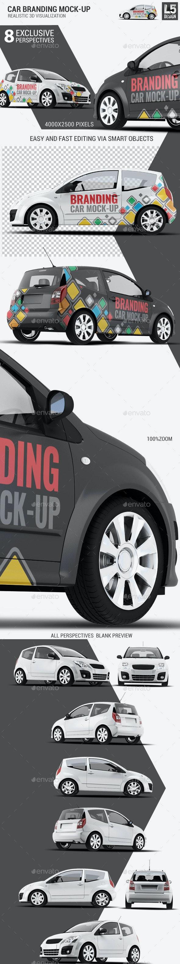 City Car Branding Mock-up - Vehicle Wraps Print