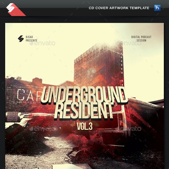 Underground Resident vol.3 - CD Cover Template