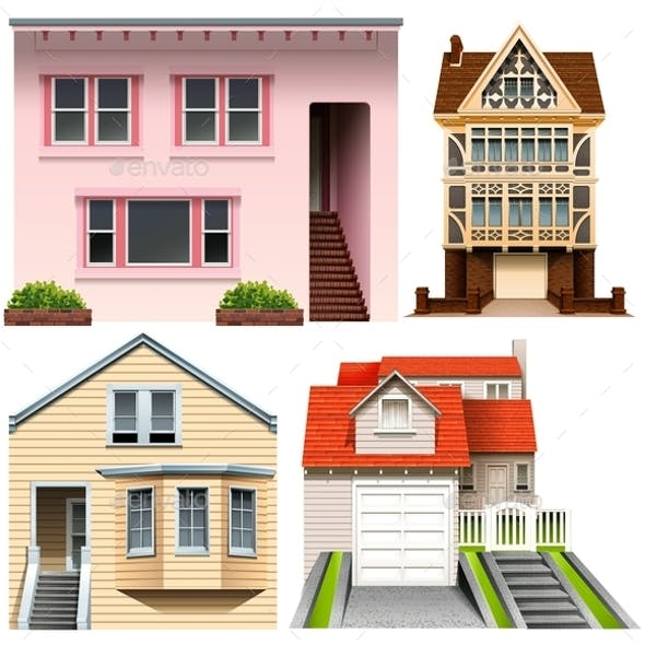 Four House Designs By Blueringmedia Graphicriver