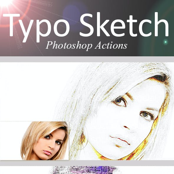 Typo Sketch Photoshop Actions