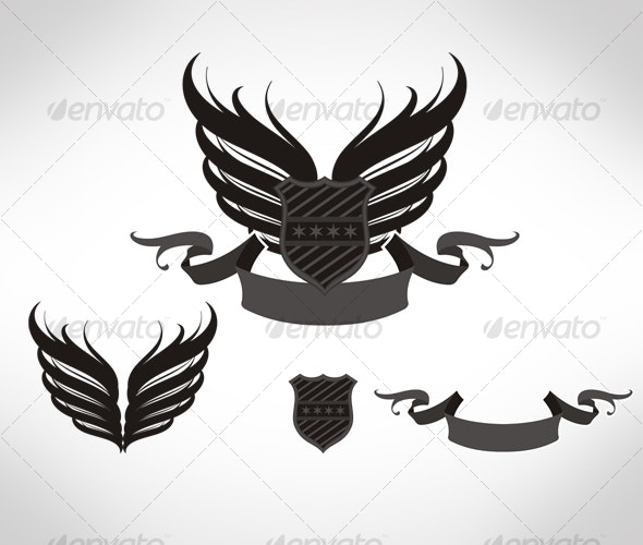 Black winged shield - Man-made Objects Objects