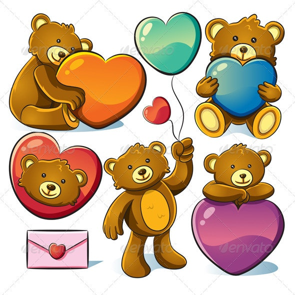 Valentine Cute Bear - Animals Characters