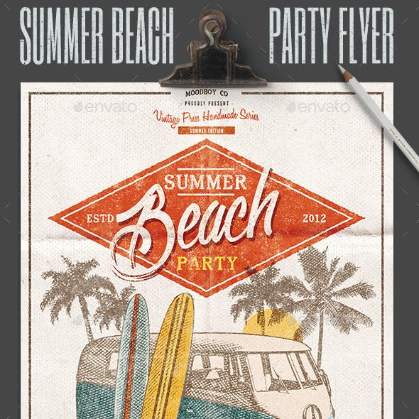 Summer Beach Party Flyer/Poster