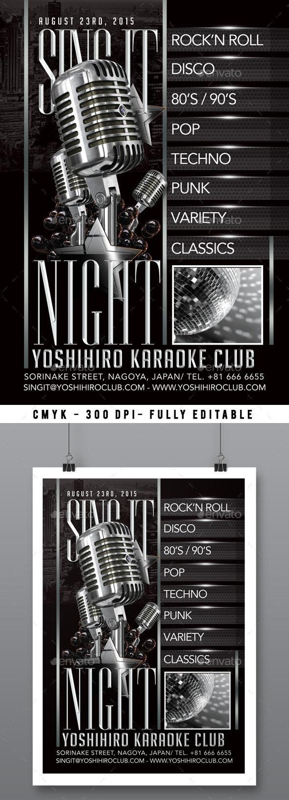 Karaoke Night - Clubs & Parties Events