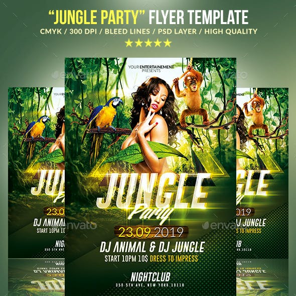 Jungle Party / Psd Poster Template