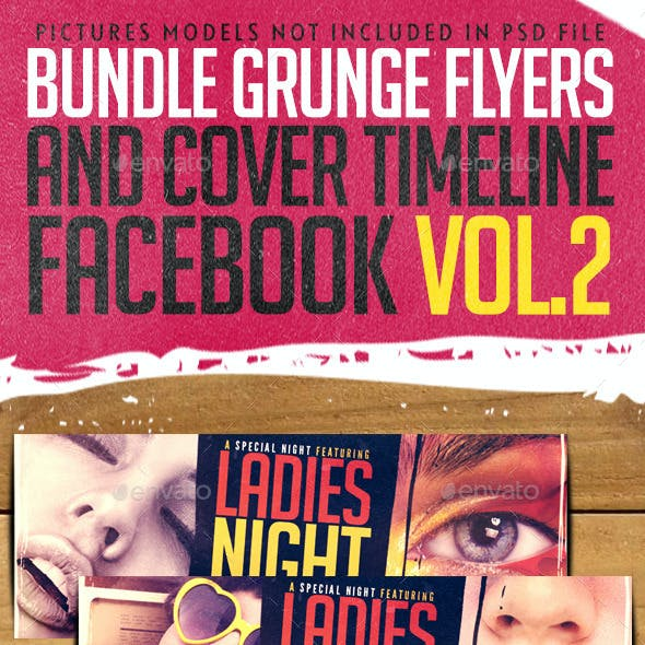 Bundle Grunge Flyers + Facebook Cover Vol.2