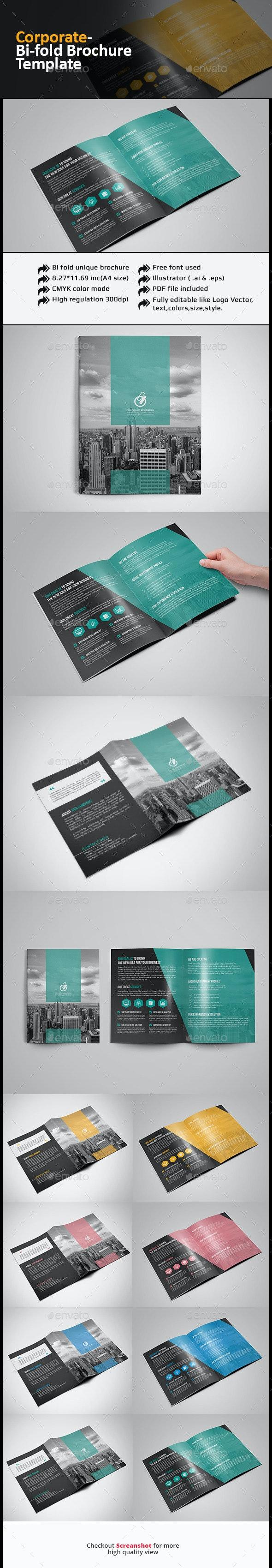 Bi Fold Brochure-Multipurpose - Corporate Brochures