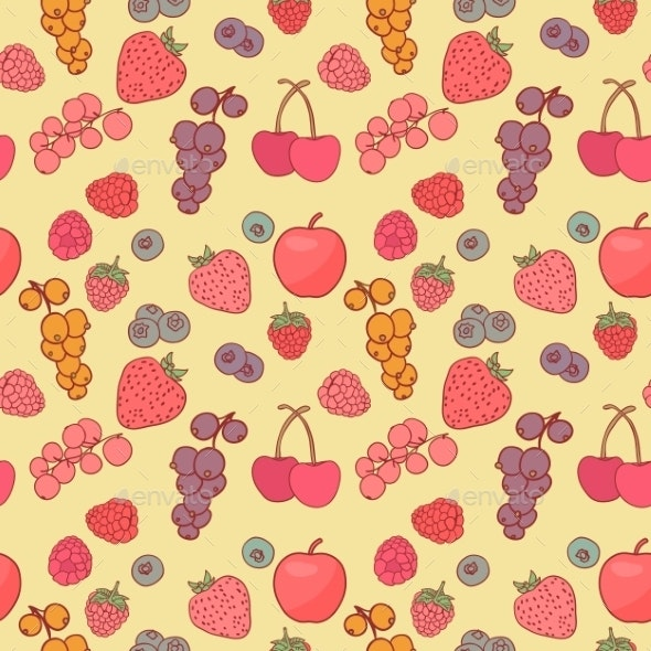 Berry Background - Flowers & Plants Nature