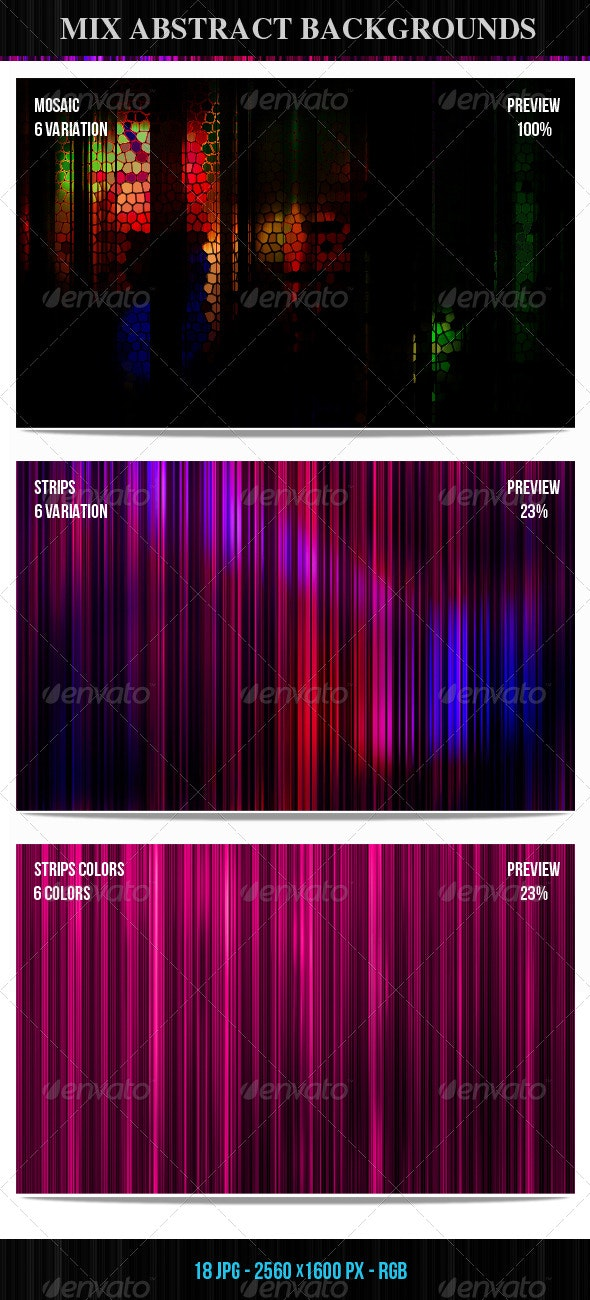 Mix Abstract Backgrounds  - Backgrounds Graphics