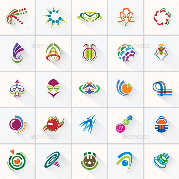 Abstract Colorful Design Elements and Icons.