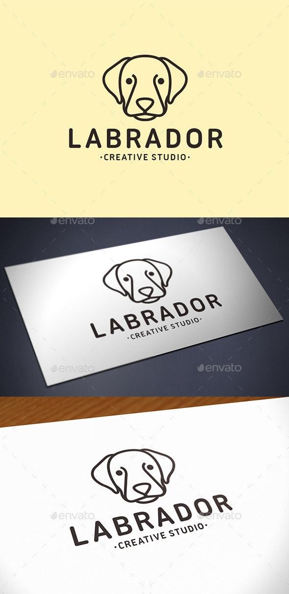 Labrador Dog Logo Template - Animals Logo Templates