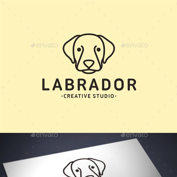 Labrador Dog Logo Template