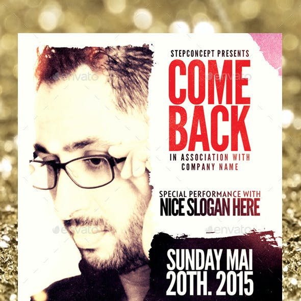 Come Back Flyer Template