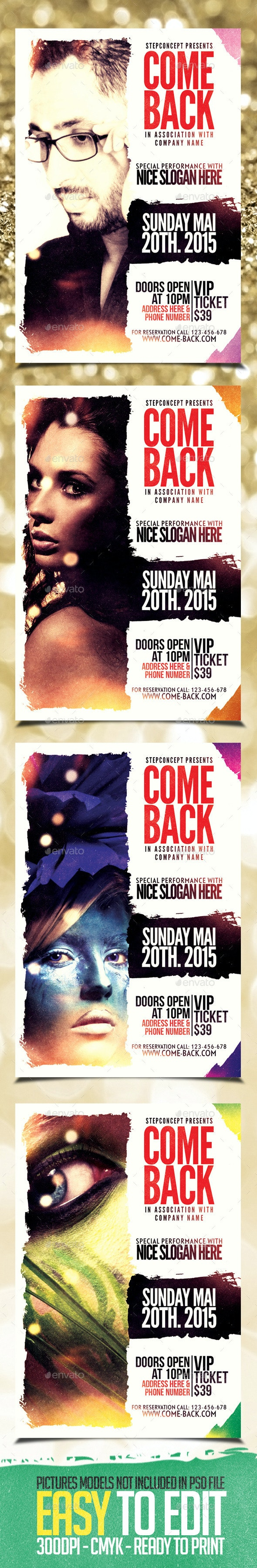 Come Back Flyer Template - Events Flyers