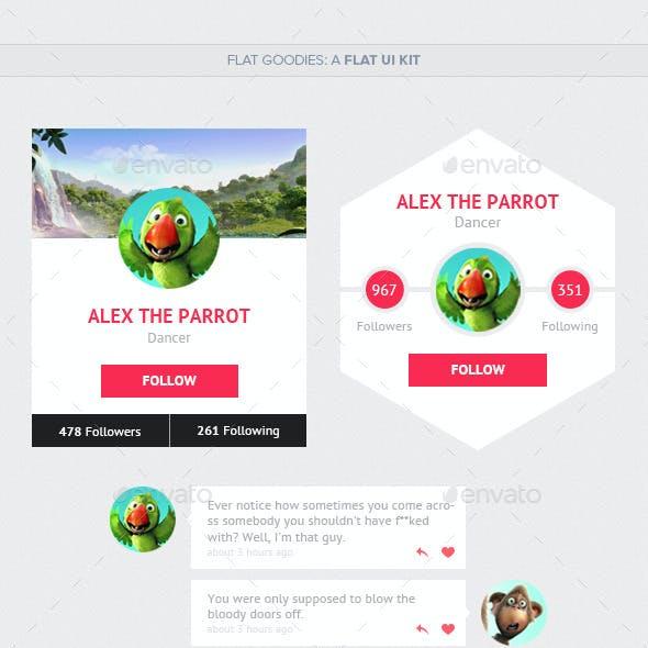 Flat Goodies: A Flat UI Kit