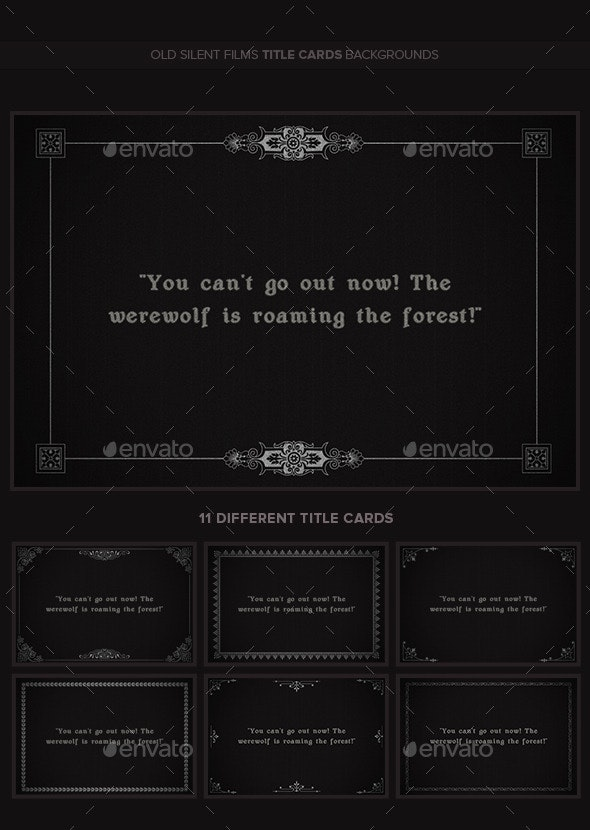 Old Silent Films Title Cards Backgrounds v2