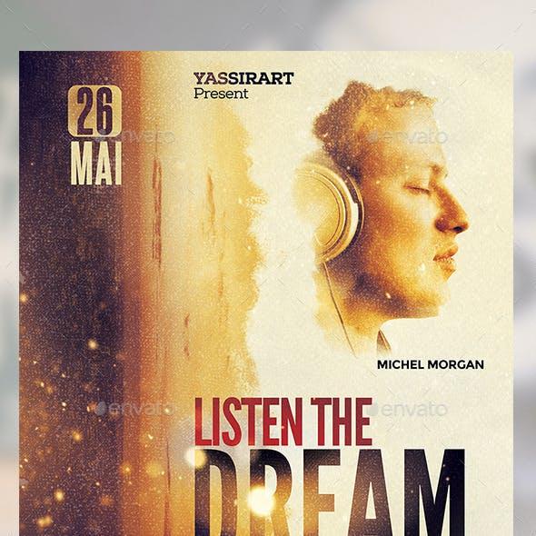 A3 Dream Film Poster Template