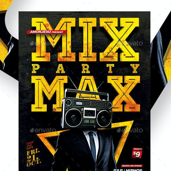 Mix Max Party Flyer Template