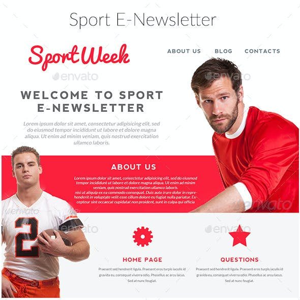 Sports Email Newsletter