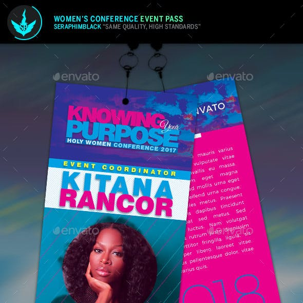Women's Conference Event Pass Template