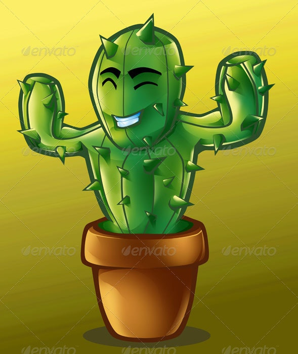 Spiky the Cactus - Characters Illustrations