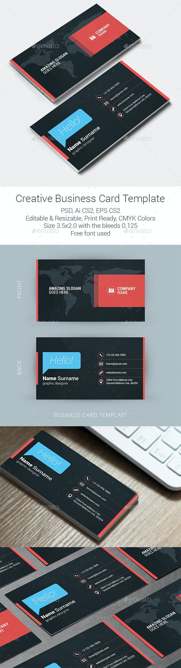 Creative Business Card Template - Creative Business Cards