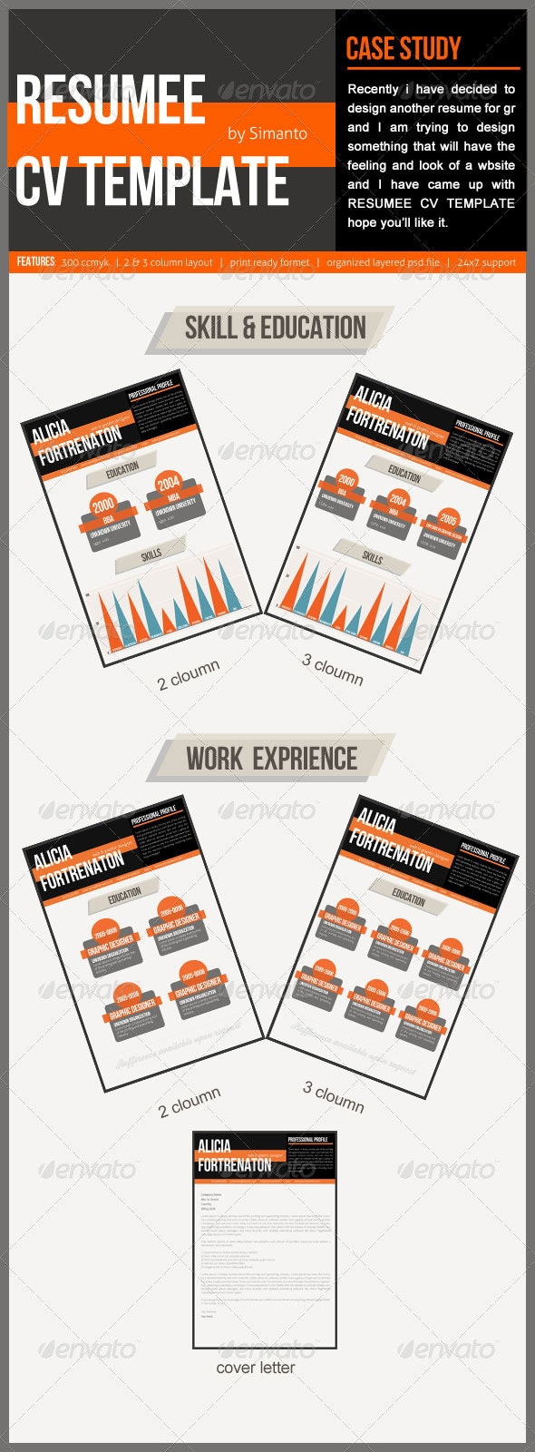 Resume CV Template - Resumes Stationery