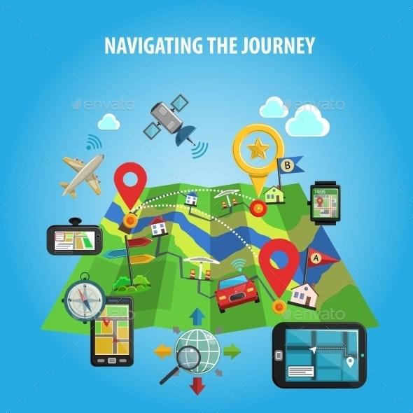 Navigating The Journey Concept  - Travel Conceptual